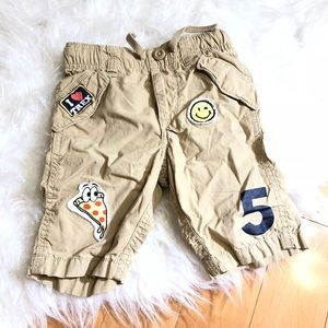 Gap 4T Patch Cargo Brown Shorts